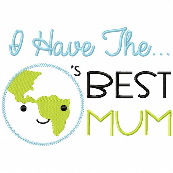 Worlds Best Mum Vintage and Chain Applique Machine Embroidery Design