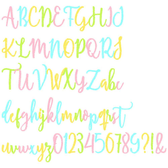 Karissa Embroidery Font