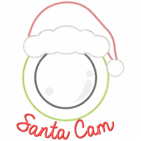 Santa Cam Vintage and Chain Applique