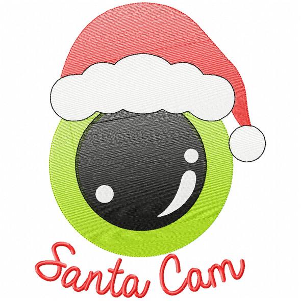 Santa Cam Simple Stitch and Sketch Fill Applique Machine Embroidery Design