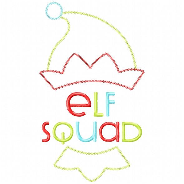 Elf Squad Vintage and Chain Applique Machine Embroidery Design