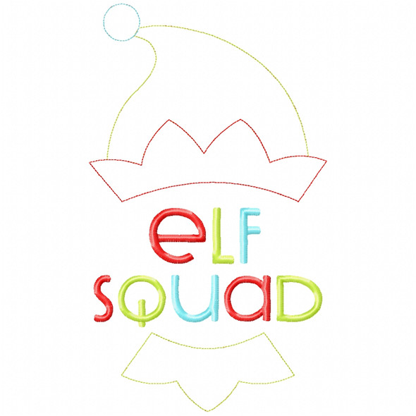 Elf Squad Stitch and Sketch Fill Applique