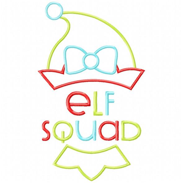 Girl Elf Squad Satin and Zigzag Applique