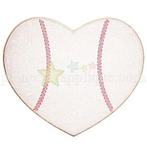 Baseball Heart Applique