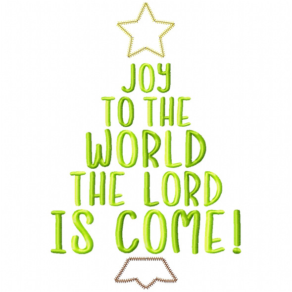 Joy to the World Satin and Zigzag Applique