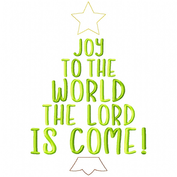 Joy to the World Simple Stitch and Sketch Fill Applique