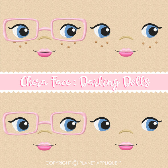 Chera Face Styles For Darling Dolls Machine Embroidery Design