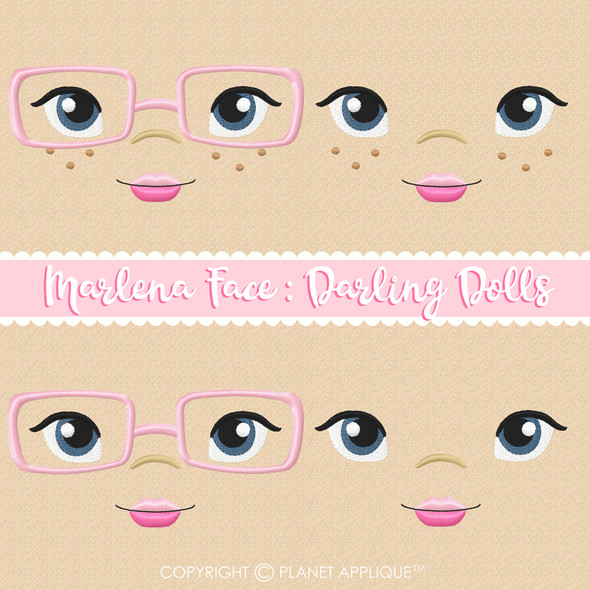 Marlena Face Styles For Darling Dolls Machine Embroidery Design