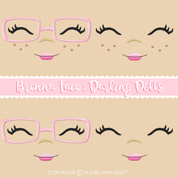 Brenna Face Styles For Darling Dolls Machine Embroidery Design