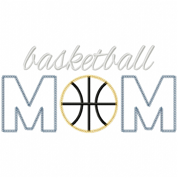 Basketball Mom Vintage and Chain Applique