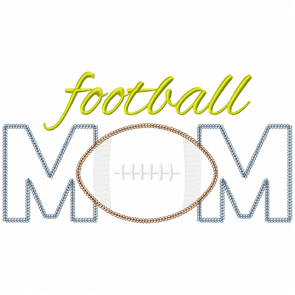 Football Mom Vintage and Chain Applique
