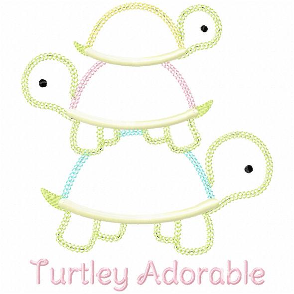Turtley Adorable Vintage and Chain Applique
