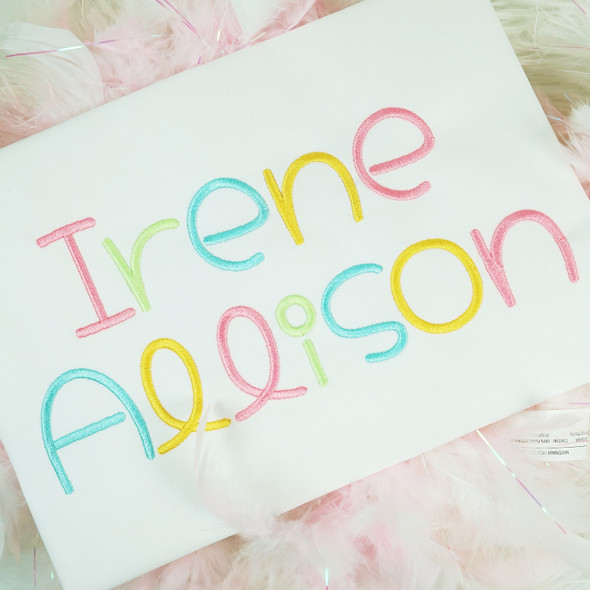 Irene Embroidery Font