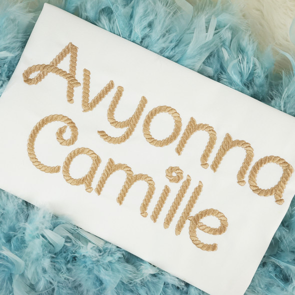 Jasmine Rope Embroidery Font Machine Embroidery Design