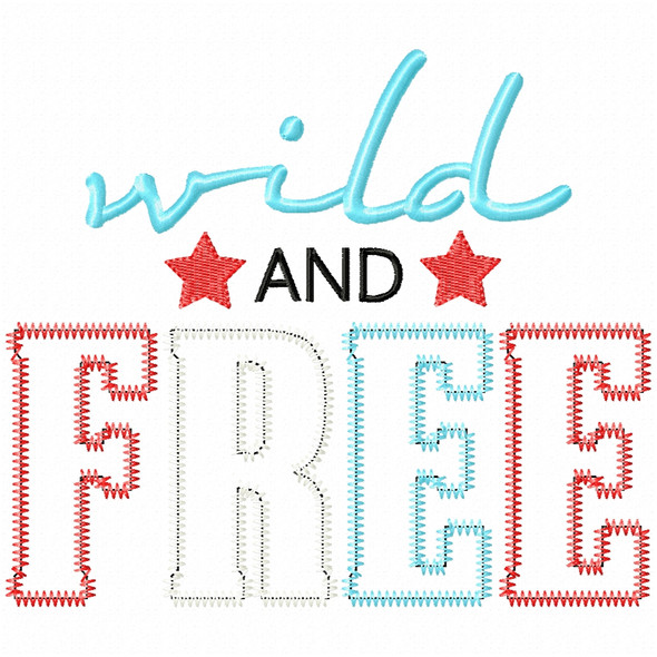 Wild and Free Satin and Zigzag Applique