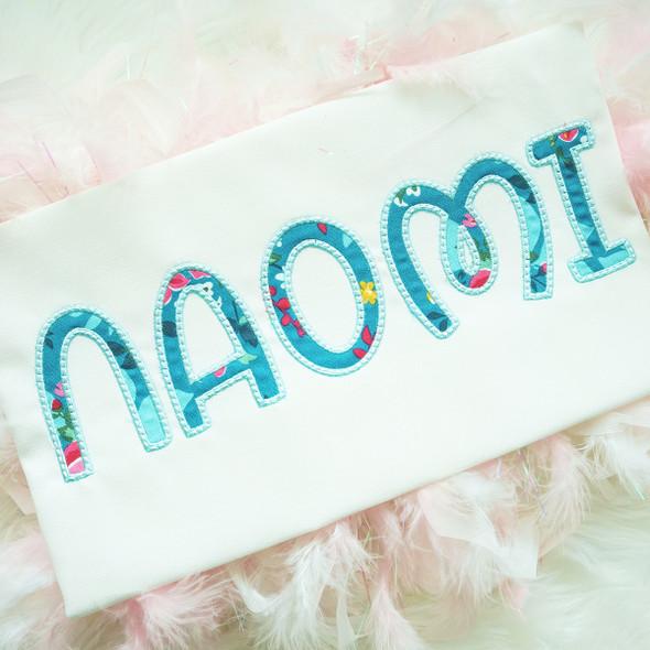 Dainty Applique Alphabet Machine Embroidery Design