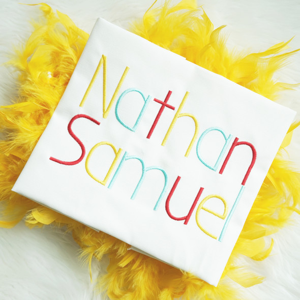 Nathan Embroidery Font Machine Embroidery Design