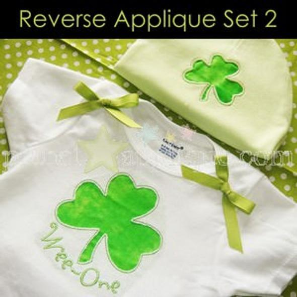 Reverse Applique Set 2 Machine Embroidery Design