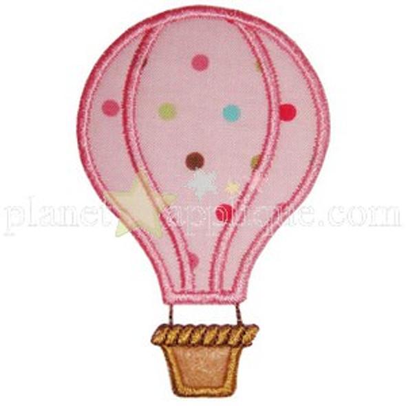 Hot Air Balloon Applique Machine Embroidery Design