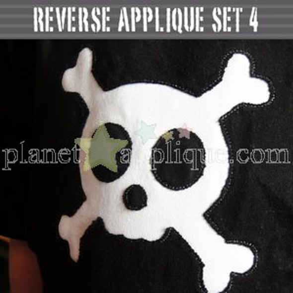Reverse Applique Set 4 Machine Embroidery Design
