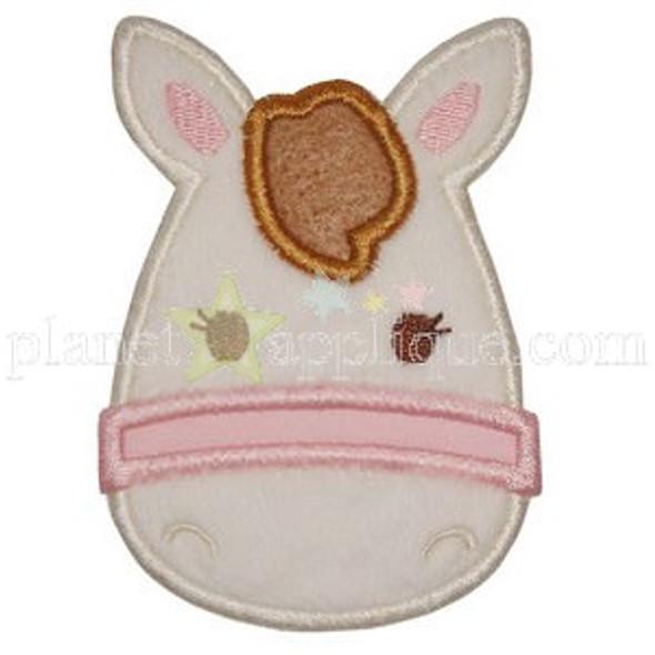 Pony Applique Machine Embroidery Design