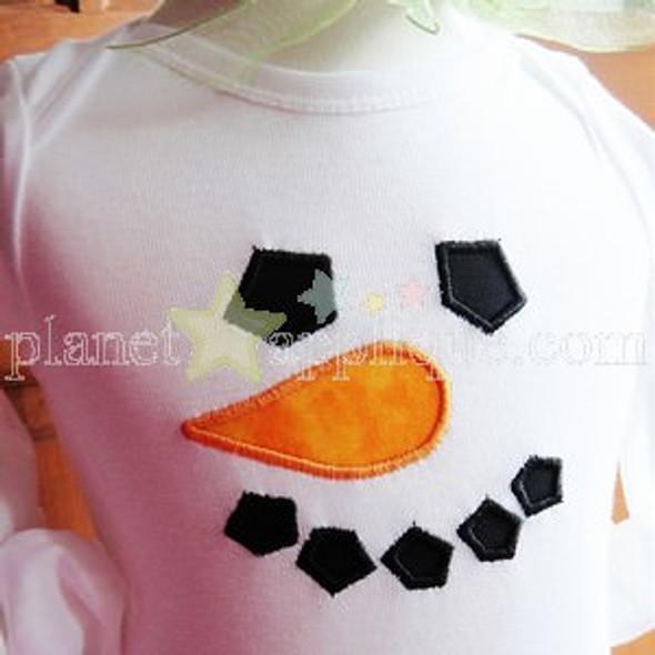 Simple Snowman Machine Embroidery Design