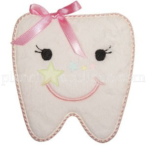 Tooth Applique Machine Embroidery Design