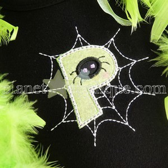 Spider Web Applique Alphabet