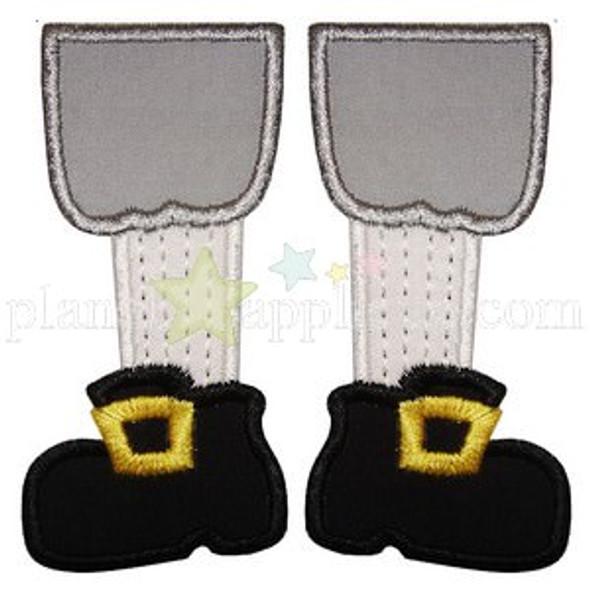 Pilgrim Feet Applique Machine Embroidery Design