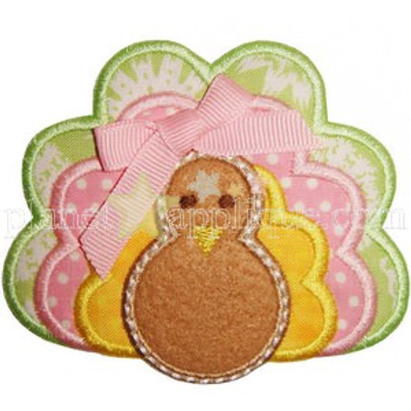 Turkey Applique Machine Embroidery Design