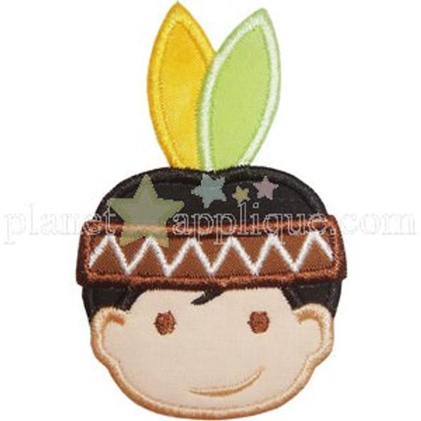 Indian Boy Machine Embroidery Design