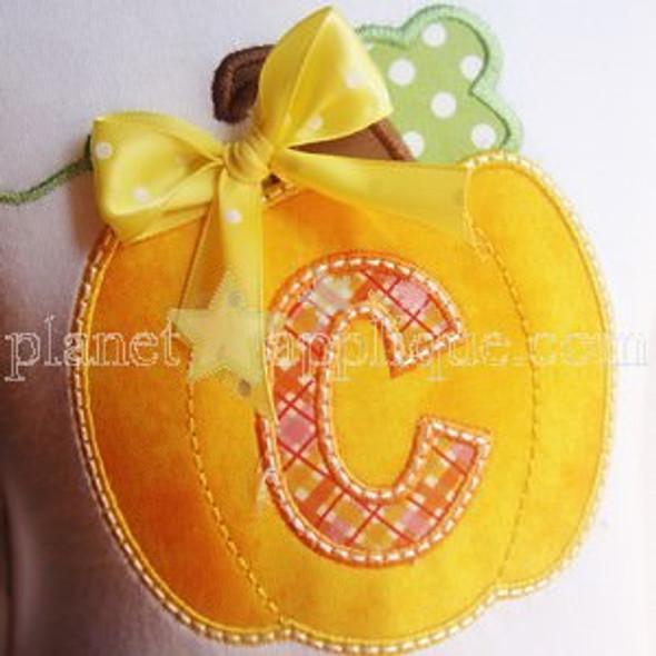 Double Pumpkin Alphabet Machine Embroidery Design