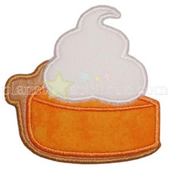 Pumpkin Pie Applique Machine Embroidery Design