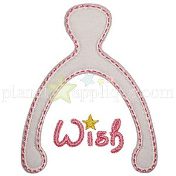 Sweet Wishbone Applique Machine Embroidery Design