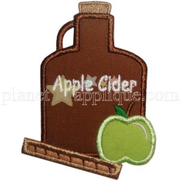 Apple Cider Applique Machine Embroidery Design