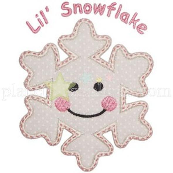 Lil Snowflake Applique Machine Embroidery Design