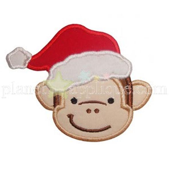 Christmas Monkey Applique
