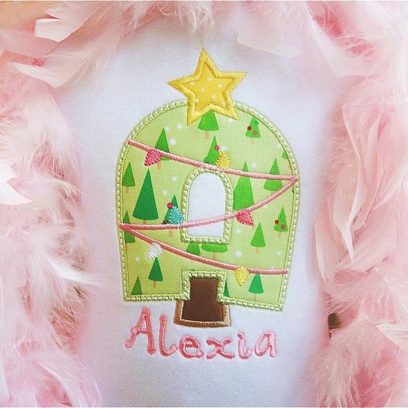 O Christmas Tree Alpha Machine Embroidery Design