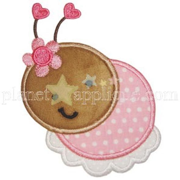 Cute Ladybug 2 Applique Machine Embroidery Design