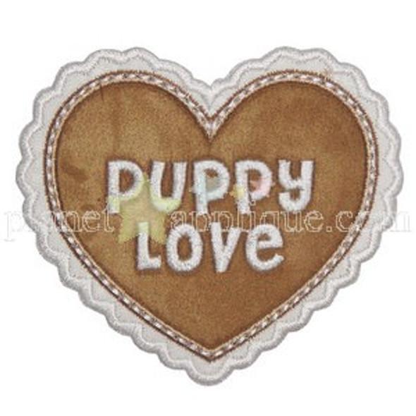 Puppy Love Heart applique