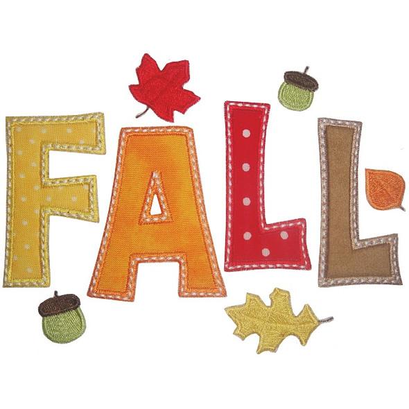 Fall Applique Machine Embroidery Design