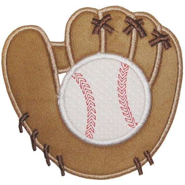 Baseball and Mitt Applique