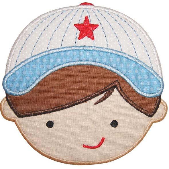 Baseball Boy Applique