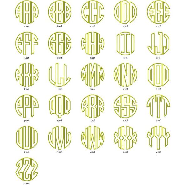 Circle Monogram Alpha