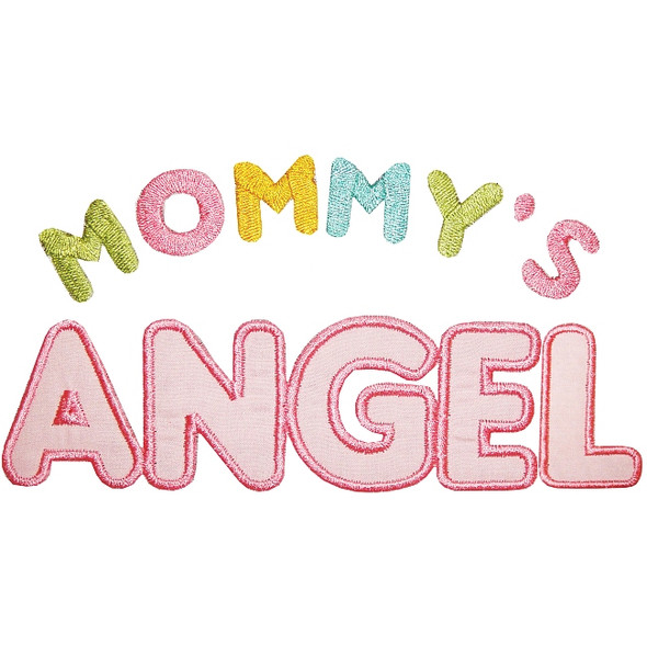 Mommys Angel applique Machine Embroidery Design