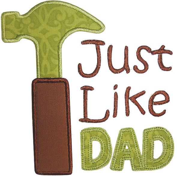 Just Like Dad Applique
