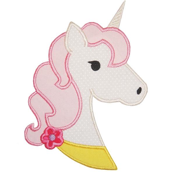 Unicorn Head Applique