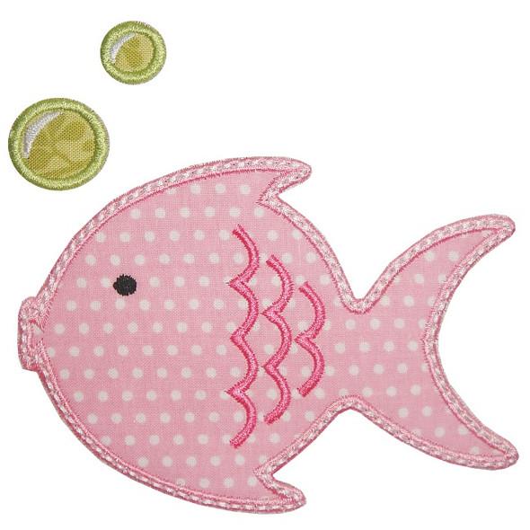 Lil Fishy Applique Machine Embroidery Design