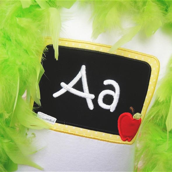 Chalkboard Alpha Machine Embroidery Design