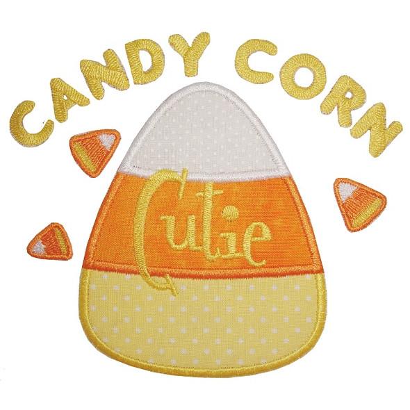 Candy Corn Cutie Machine Embroidery Design